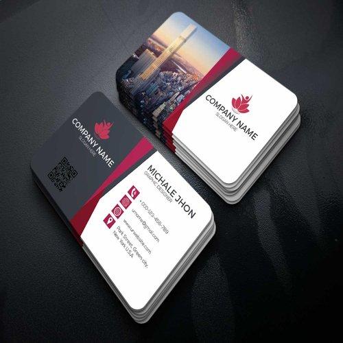 Визитки со скругленными углами, Colortech 300 г/м², ламинация 1+1